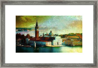 Dawn San Giorgio Maggiore Framed Print