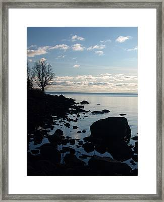 Dawn At The Cove Framed Print by James Peterson