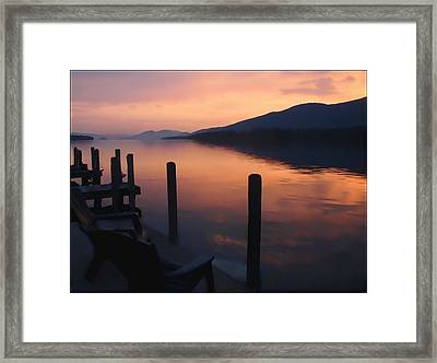 Dawn At The Docks Framed Print