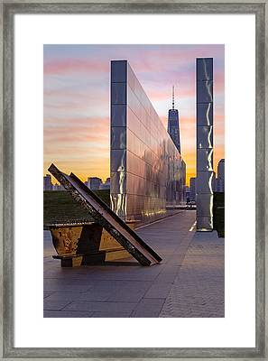 Dawn At The Empty Sky Memorial Framed Print by Susan Candelario