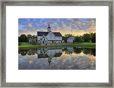 Dawn At The Star Barn Framed Print