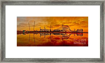 Dawn At Wildwood Pier Framed Print by Nick Zelinsky