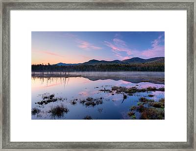Dawn Breaking Over Shaw Pond Framed Print