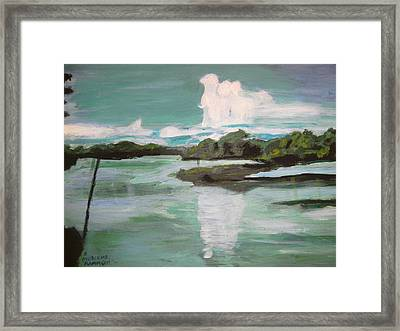 Dawn Breaks On Jong River Mattru Sierra Leone Framed Print by Mudiama Kammoh