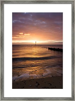 Dawn By The Sea Framed Print by Mara Acoma