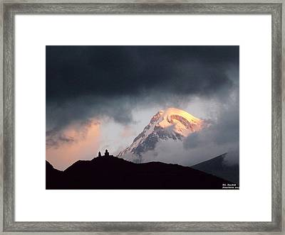 Dawn Caressing Mt Kazbek 2 Framed Print
