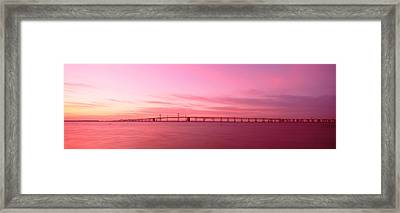 Dawn, Chesapeake Bay Bridge, Maryland Framed Print