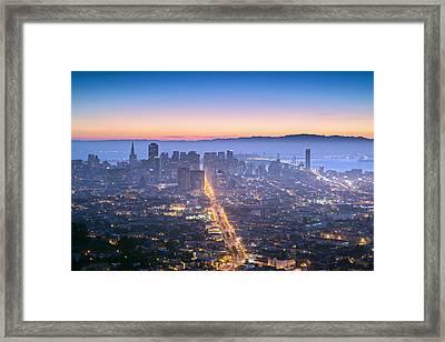 Dawn Colors - San Francisco Framed Print