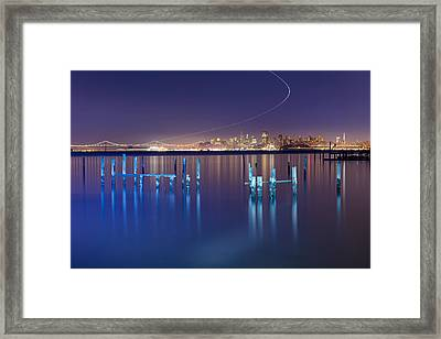 Dawn Colors - Sausalito Framed Print by David Yu