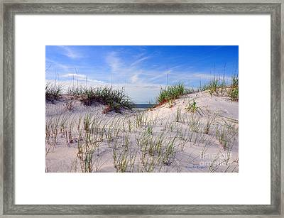 Dawn Dunes Framed Print