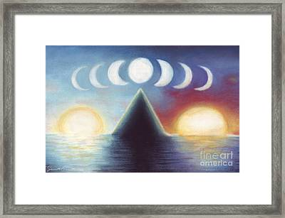 Dawn Dusk And In-between Framed Print