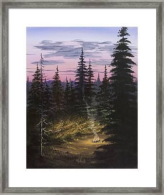 Dawn Fire Framed Print