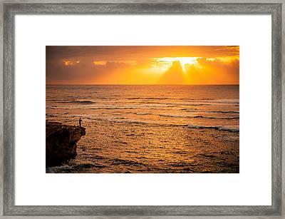Dawn Fisherman Framed Print