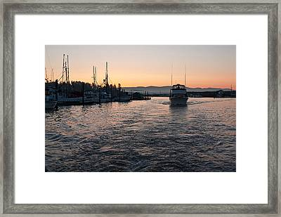 Framed Print featuring the photograph Dawn Fishing by Erin Kohlenberg