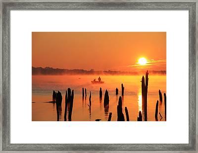 Dawn Fishing Framed Print