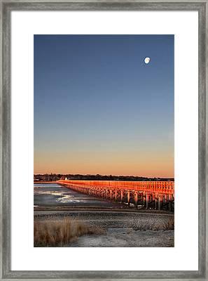 Dawn Glows On Powder Point Duxbury Framed Print