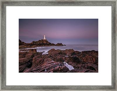 Dawn Hues At La-corbiere Framed Print