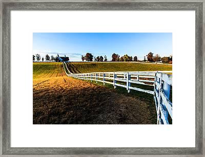 Dawn In Kentucky Framed Print