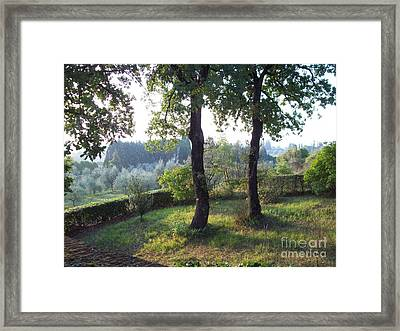 Dawn In Loppiano Framed Print