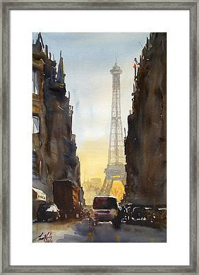 Dawn In Paris Framed Print