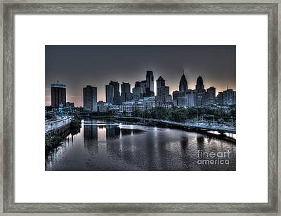 Dawn In Philly Framed Print