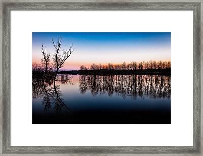 Dawn In The Flood Framed Print