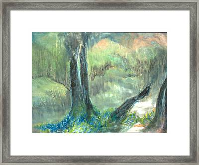 Dawn In The Valley Framed Print