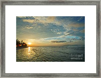 Dawn Island Framed Print