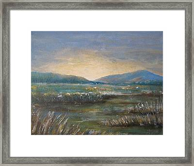 Framed Print featuring the painting Dawn by Jane  See