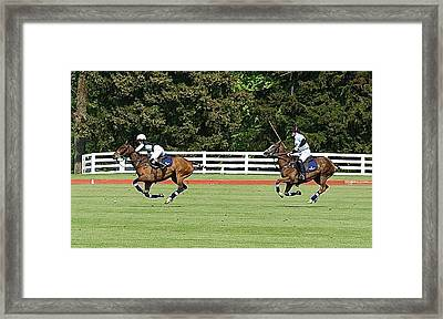 Dawn Jones At Prince Harry Polo Match Framed Print