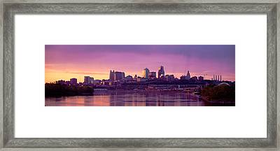 Dawn Kansas City Mo Framed Print by Panoramic Images