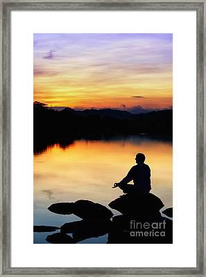 Dawn Meditation Framed Print by Tim Gainey