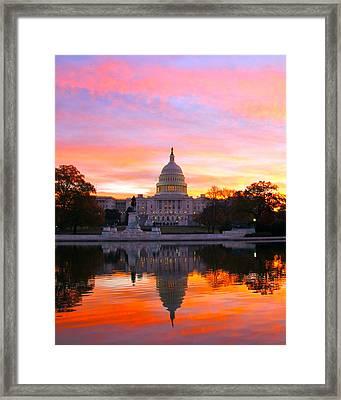 Dawn Framed Print by Mitch Cat