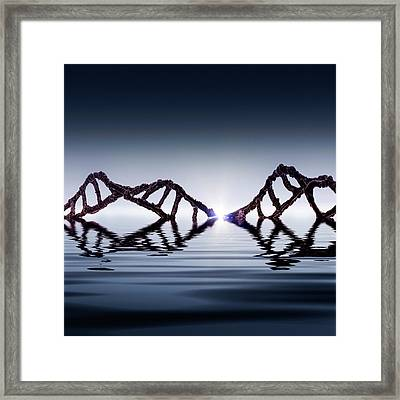 Dawn Of Dna Framed Print by Richard Kail
