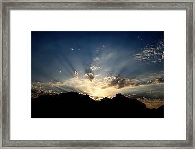 Dawn Of Hope Framed Print by Wings  Mok