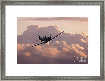 Dawn Of The Spitfire  Framed Print by J Biggadike