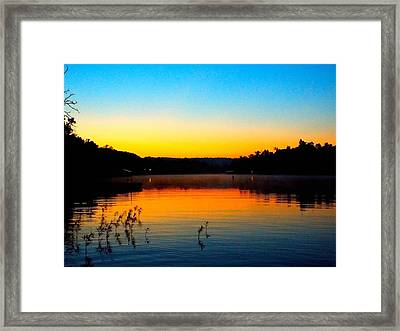 Dawn On Crown Cove Framed Print by Cindy Croal