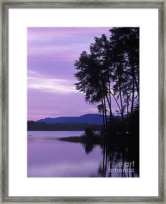 Dawn On Deam Lake - Fm000087 Framed Print