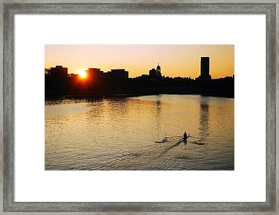 Framed Print featuring the photograph Dawn On The Charles by James Kirkikis