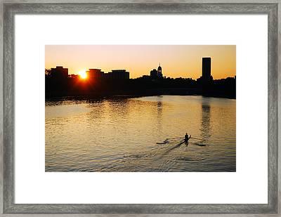 Dawn On The Charles Framed Print by James Kirkikis