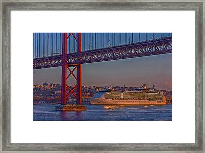Framed Print featuring the photograph Dawn On The Harbor by Hanny Heim