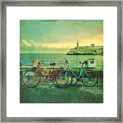 Dawn On The Havana Waterfront Framed Print