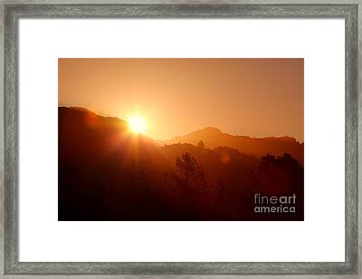 Dawn Over Calistoga Framed Print by Posterity Productions
