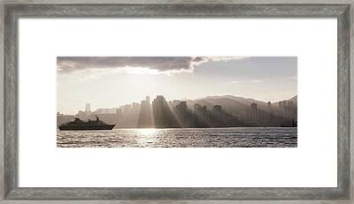 Dawn Over Central Business District Framed Print by Panoramic Images