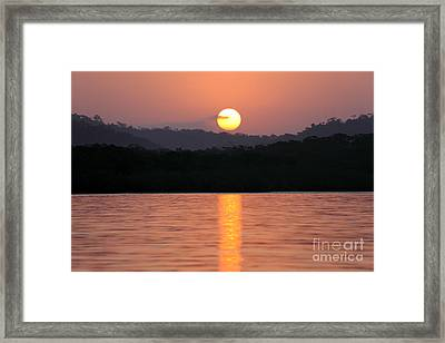 Dawn Over Darien Framed Print by James Brunker