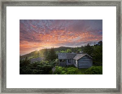 Dawn Over Leconte Framed Print by Debra and Dave Vanderlaan