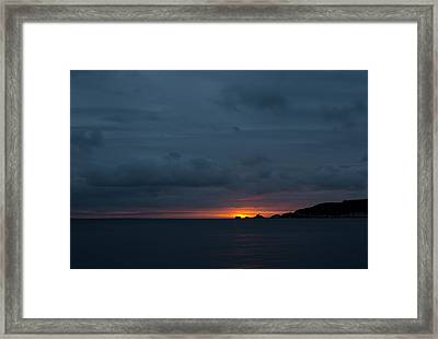 Dawn Over Swansea Bay Framed Print