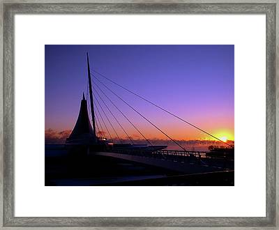 Framed Print featuring the photograph Dawn Over The Calatrava by Chuck De La Rosa