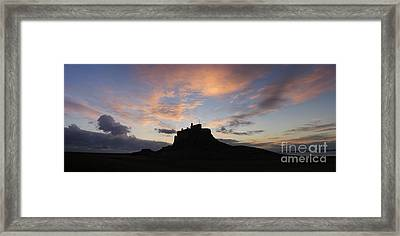 Dawn Over The Castle Framed Print by Tim Gainey
