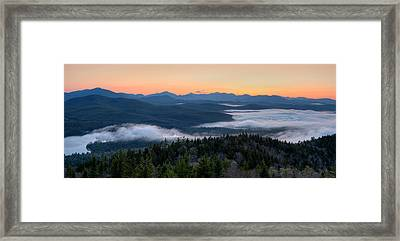 Dawn Over The High Peaks From Goodnow Framed Print by Panoramic Images